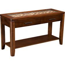 alpine furniture 1437 23 granada sofa table w coconut shell