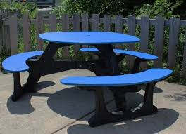 round plastic picnic table 46 round recycled plastic picnic table a picnic table store