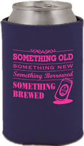 something something new something borrowed something brewed koozie wedding favor ideas a on a budget