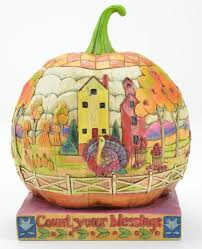 jim shore count your blessings pumpkin collectable 118757