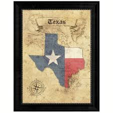 texasstate vintage mapart office wall home decor rustic gift ideas