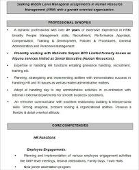 Employee Engagement Resume Hr Resume Human Resource Resume Human Resources Manager Resume