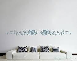 modern wall decals for living room flower wall border vinyl decals modern wall art