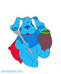 blue clues toy coloring pages kids color print