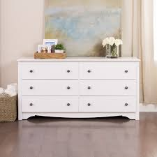 south shore country poetry 6 drawer double dresser white wash