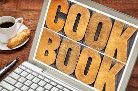 mot de cuisine abrégé sur mot de livre de cuisine sur l écran d ordinateur