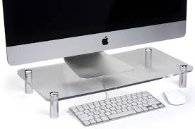 clear monitor stand holds up to 31 lb screens
