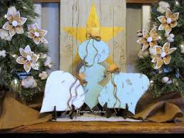 wooden christmas ornaments rustic holiday decor farmhouse