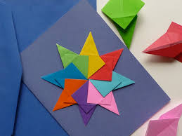 How To Make Origami Greeting Cards - origami card artclubblog