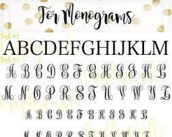 3 initial monogram fonts 3 initials monogram etsy