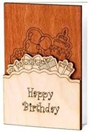 amazon com happy birthday real wood handmade card for men or
