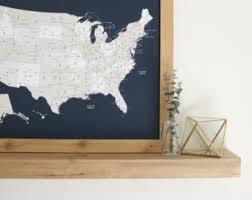 map usa framed united states map etsy