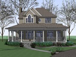 100 house plan with wrap around porch small log homes vintage