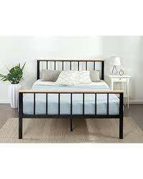 deal alert zinus contemporary metal and wood platform bed with