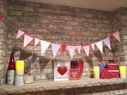 cool fireplace valentine decor presenting adorable small red tone