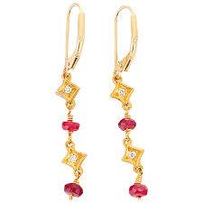 brevard earrings brevard ruby diamond gold dangle earrings for sale at 1stdibs