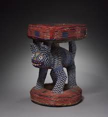 leopard caryatid stool possibly 1800s equatorial africa