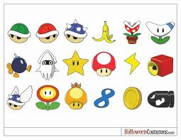 printable mario kart costumes gourds u0026 miniature pumpkins