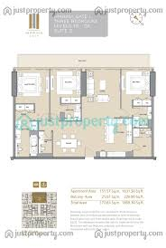 30 Sq M by Marina Gate Tower 1 Floor Plans Justproperty Com
