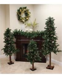 savings set of 3 pre lit woodland alpine artificial