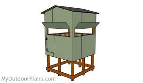 2 Person Deer Blind Plans Elevated Deer Blind Plans Myoutdoorplans Free Woodworking