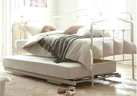 White Metal Daybed With Trundle Daybeds With Pop Up Trundle Moutard Co
