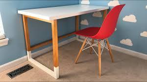 Modern Desk by Build A Modern Desk With An Ikea Desktop Youtube
