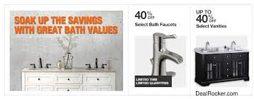 black friday bath faucet deals home depot up to 40 off select vanities u0026 bath faucets at home depot