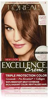reddish brown hair color amazon com l oreal excellence creme triple protection hair color