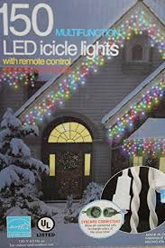 Multi Color Icicle Lights 150 Multifunction Led 5 Different Color Icicle Lights With Remote
