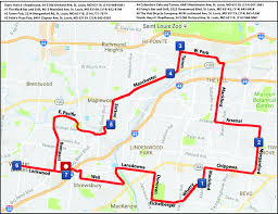 St Louis Mo Map 2017 Group Rides The Hub Bicycle Co The Hub Bicycle Co