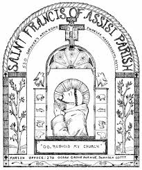 st francis of assisi coloring page printable classroom ideas