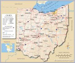 New York State Map With Cities And Towns by Reference Map Of Ohio Usa Nations Online Project