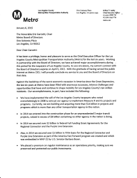 Executive Letter Of Resignation Lacmta Ceo Art Leahy Resignation Letter U2014 General Committee Of