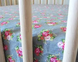 Vintage Floral Crib Bedding Crib Sheet Changing Pad Cover Baby Blanket So
