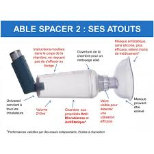 chambre inhalation adulte chambre d inhalation able spacer 2 santelec