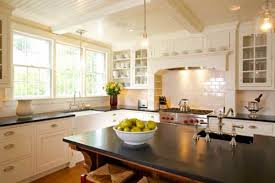 new classic kitchen in a cape cod federal old house restoration