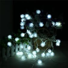 christmas tree shaped lights white 20 led dandelion christmas tree shaped string lights