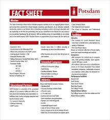 One Sheet Template Fact Sheet Templates Fact Sheet Template For Organization