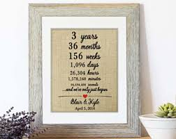 3rd year anniversary gift ideas for third anniversary gift ideas third wedding gift three year