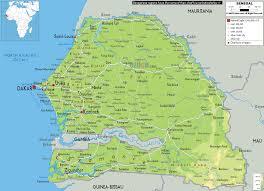 africa map senegal physical map of senegal ezilon maps