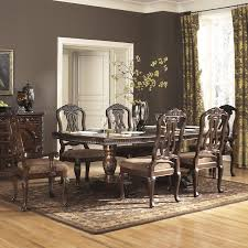 queen anne dining room table amazon com ashley north shore 7 piece wooden dining table set