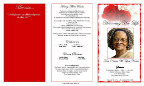 templates for funeral program blank funeral program template funeral program template trifold