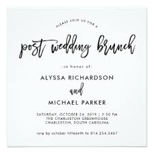 after wedding brunch invitation post wedding brunch invitations announcements zazzle co nz