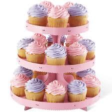 pink borders cupcake stand wilton