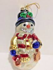 unbranded glass snowman ornaments ebay