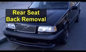 volvo north carolina headquarters rear seat back removal volvo wagon estate 850 v70 xc70 auto