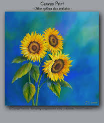 Etsy Laundry Room Decor by Sunflower Decor Canvas Wall Art Blue And Yellow Laundry Room