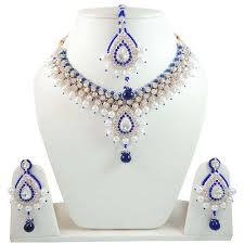 necklace set blue stone images Blue stone necklace designs images jpg