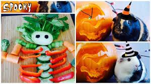halloween vegetable skeleton a skeleton for guinea pigs veggie diy youtube